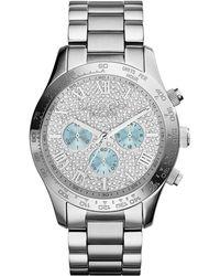 Michael Kors Ladies Layton Glitz Chronograph Watch - Lyst