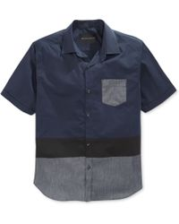 Sean John Colorblocked Pocket Shirt - Lyst
