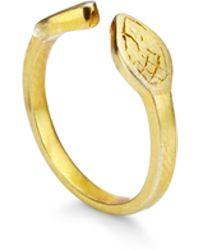 Genevieve Jones Aerin Serpent Midi Ring - Metallic