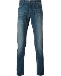 Jacob Cohen Stone Washed Jeans - Lyst