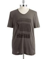 G-star Raw V Neck T Shirt - Lyst