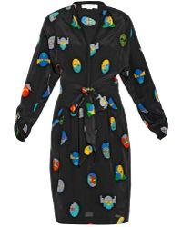 Stella McCartney Paula Superhero-print Silk Dress - Lyst