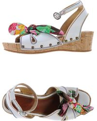 Miss Sixty White Sandals - Lyst