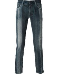 Dolce & Gabbana Striped Slim Jeans - Lyst