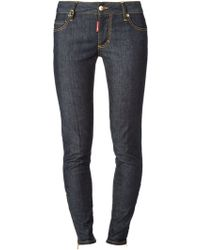 DSquared2 Blue Skinny Jeans - Lyst