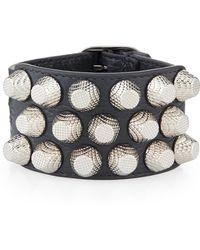 Balenciaga - Giant 12 Triple-row Leather Bracelet - Lyst