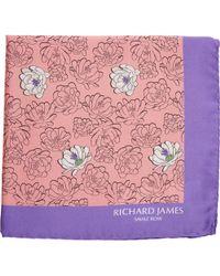 Richard James - Floral Pocket Square - Lyst