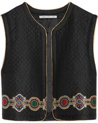 Alessandra Rich | Embroidered Quilted Jacquard Vest | Lyst