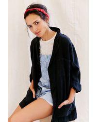 Urban Renewal Remade Short Linen Shop Coat - Black