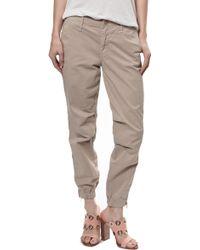 Mother Misfit Crop Pants beige - Lyst