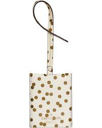 Kate Spade - Cedar Street Confetti Dot Luggage Tag - Lyst