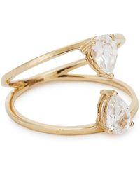 Mirlo - Pear Duo 14kt Gold Sapphire Ring - Lyst