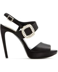 Roger Vivier Embellished Platform Sandals - Lyst