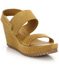 Pedro Garcia | Francy Suede Wedge Platform Sandals | Lyst