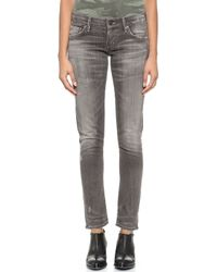 Citizens Of Humanity Racer Destroyed Skinny Jeans - Signal - Lyst