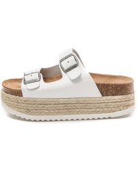 Jeffrey Campbell Aurelia Platform Espadrille Sandals - White - Lyst