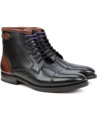 Ted Baker Toe Cap Derby Boot - Lyst