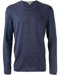 John Varvatos Fine Knit Sweater - Lyst