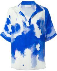 OSMAN Dyed Print Blouse blue - Lyst