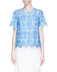 Preen 'Royston' Lace Front Top - Lyst