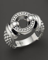 Lagos Sterling Silver Beaded Ring - Lyst