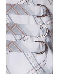 Ruban - Mixed Print Belted Peplum Skirt - Lyst