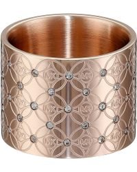 Michael Kors Mk Monogram Pave Ring gold - Lyst