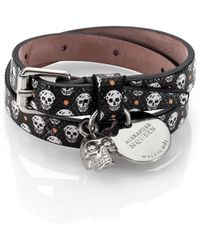 Alexander McQueen Printed Leather Bracelet - Lyst