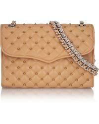 Rebecca Minkoff Studded Quilted Leather Shoulder Bag - Lyst