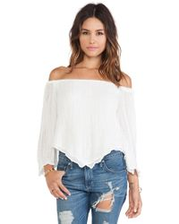 Jen's Pirate Booty White Atomic Top - Lyst