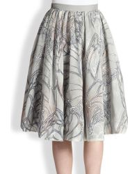 Honor Silk Double-layer Butterfly Skirt - Lyst