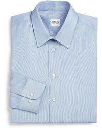 Armani Slim-Fit Micro-Stripe Cotton Dress Shirt - Lyst