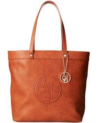 Armani Jeans Charm Logo Tote Bag - Lyst