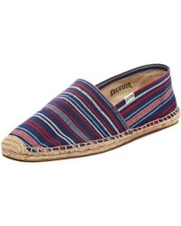 Soludos Red Runners Stripe - Lyst