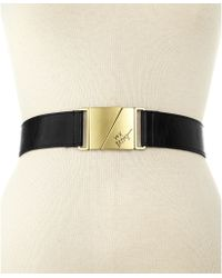 Betsey Johnson | Plaque Stretch Belt | Lyst
