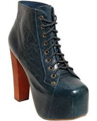 Jeffrey Campbell 120Mm Lita Distressed Leather Boots - Lyst