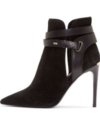 Burberry London Black Suede Finford Ankle Boots - Lyst