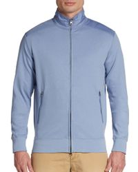Saks Fifth Avenue Black Label - Ice Cotton Track Jacket - Lyst