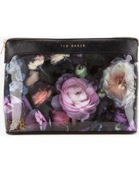 Ted Baker Shadow Floral Large Wash Bag - Grey