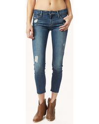 Mother The Looker Ankle Fray Skinny - Lyst