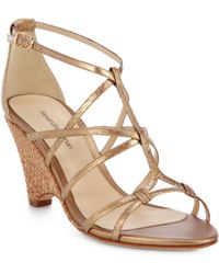 Alexandre Birman Watersnake Metallic Sandals - Lyst