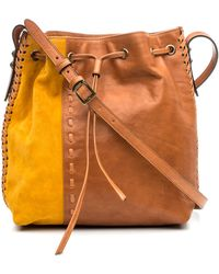 DANNIJO - Thalia Leather & Suede Bucket Bag - Lyst