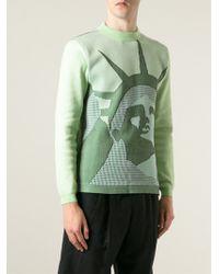 Kenzo Statue Of Liberty Cotton-Blend Sweater - Lyst