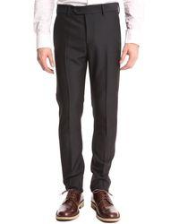 Acne Studios Navy Blue Suit Trousers - Lyst