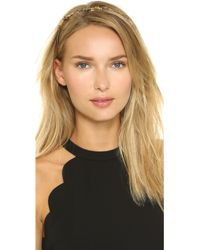 Oscar de la Renta - Crystal Branch Headband - Black Diamond - Lyst