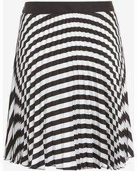 Etienne Deroeux - Striped Plisse Mini Skirt - Lyst