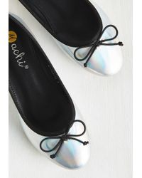 Machi Footwear - Smiling From Ear To Iridescent Flat - Lyst