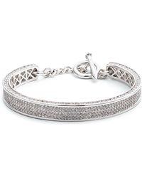 Eddie Borgo - Small Zenith Pave Crystal Cuff Bracelet - Lyst