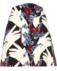 Carven Dada Print Skirt - Lyst