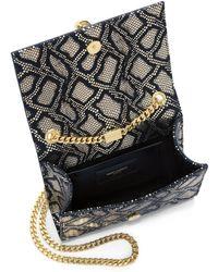 Saint Laurent Monogramme Small Metallic Reptile-Embossed Tassel Crossbody Bag gold - Lyst